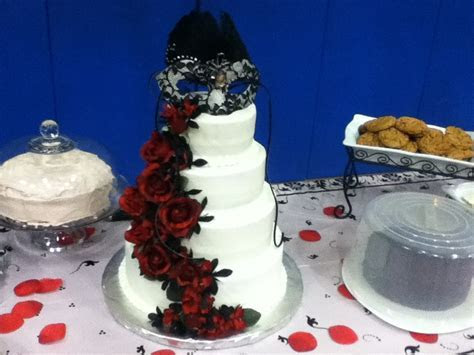 My cake to my phantom of the opera themed graduation party