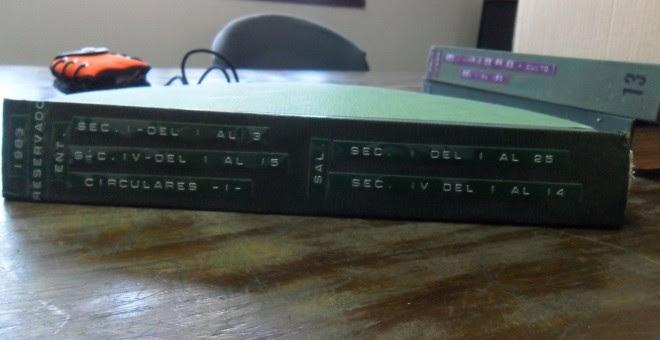 El tomo reservado de la caja 0012 data del año 1983 / PÚBLICO