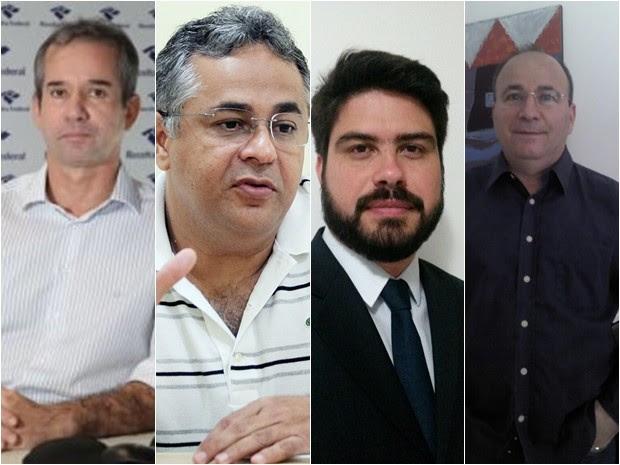 Marcellus Ribeiro, Marcelo Coelho, Davi Telles e Alberto Filho (Foto: G1)