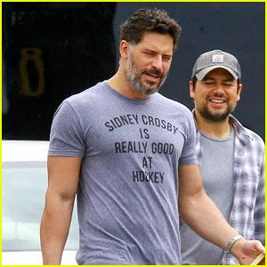 Joe Manganiello's Muscles Sure Fill Out His Shirt Well!