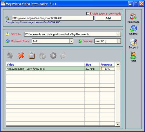 Megavideo Video Downloader 3.11 Baja vídeos sin parar [DF]