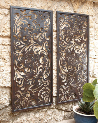 Floral Laser-Cut Wall Decor - traditional - outdoor decor - by Horchow