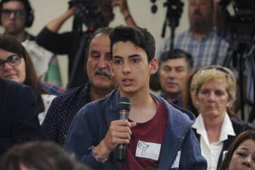Los adolescentes presentes plantearon sus inquietudes y hablaron de la importancia de los espacios públicos recreativos.