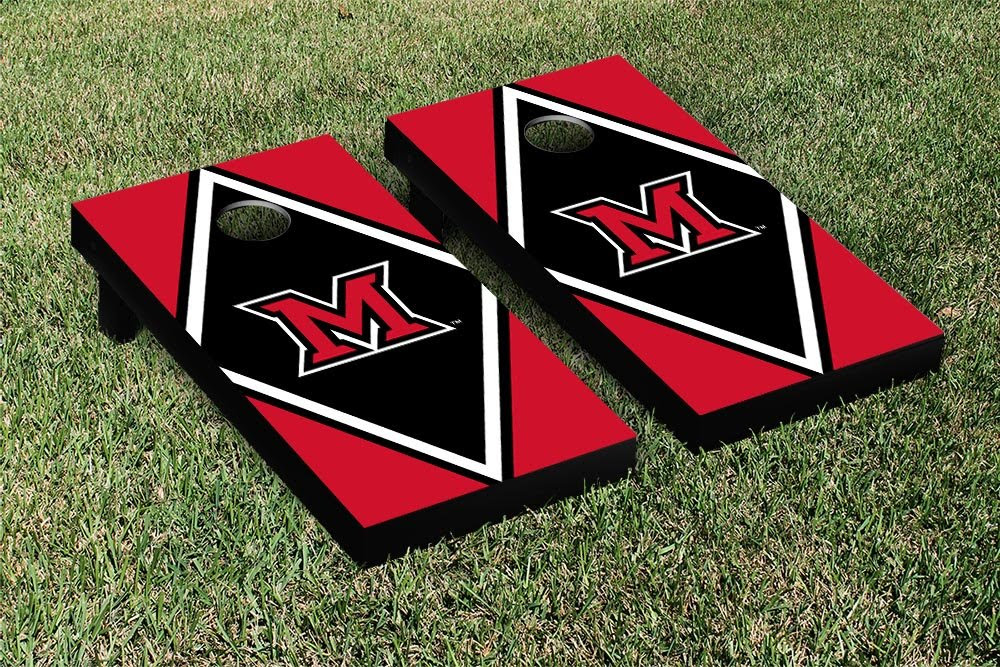 Amazon.com : Miami University RedHawks Cornhole Game Set Diamond ...