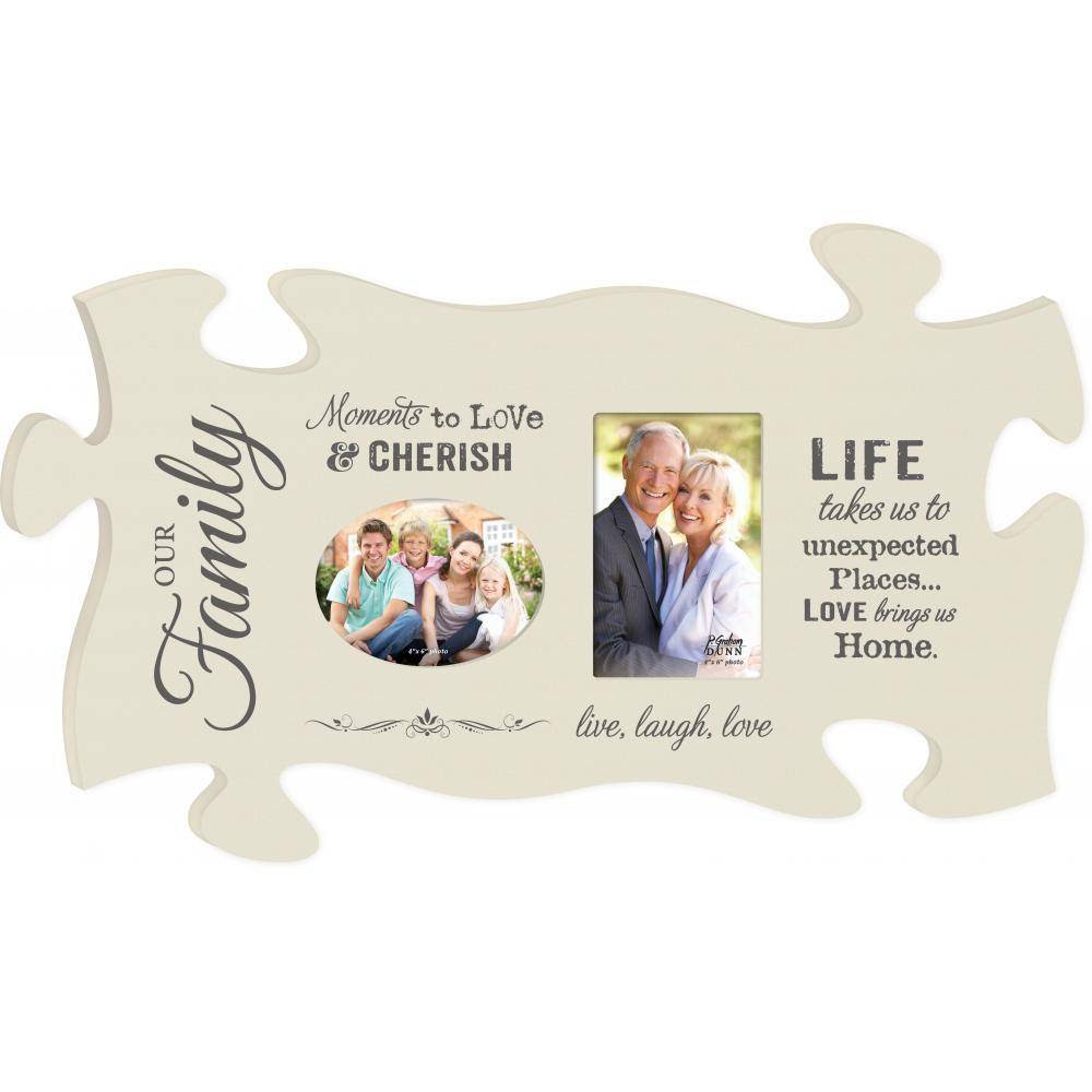 P Graham Dunn Moments To Love Picture Frame Puzzle Piece Home