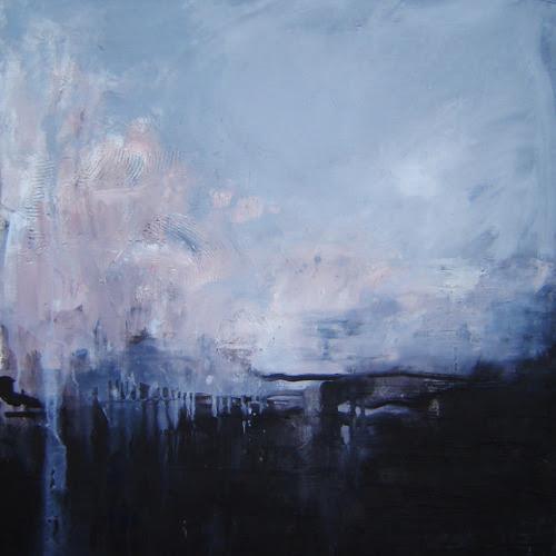 """justynapolar:""""Kveikur"""", 2014oil on canvas, 69x69Painting inspired by Sigur Rós' album """"Kveikur""""."""