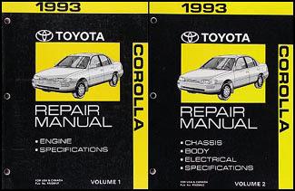 1993 Toyota Corolla Wiring Diagram Manual Original