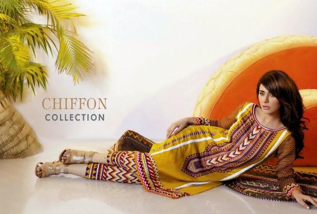 Firdous-Chiffon-Summer-Lawn-Collection-2013-Long-Shirt-with-Short-Tight-Trouser-