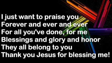 I Just Want To Praise You Forever And Ever Lyrics