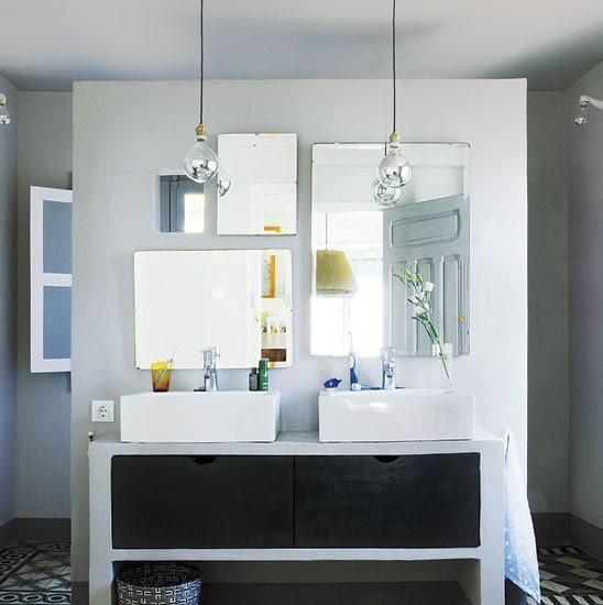 Double sinks bathroom   Spanish townhouse tour   PHOTO GALLERY   House Tour   Livingetc