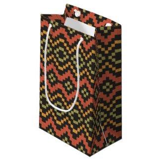 Egyptian Red Green Black Tribal Small Gift Bag