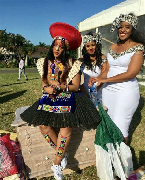 Bride Dressed In Zulu Imvunulo Traditional Wedding Attire