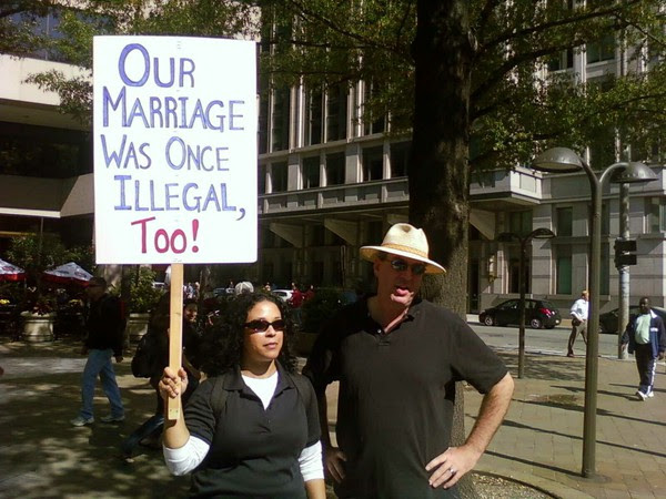 In my liferimet ohr marriage was illegal too. #whyimarch on Twitpic