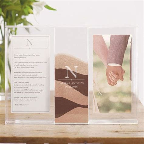 Clearly Love Custom Engraved Sand Ceremony Shadow Box