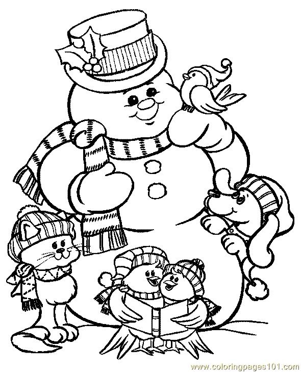 Free Christmas Coloring Pages For Kids Printable Drawing With Crayons