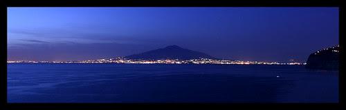 Mount Vesuvius at Night