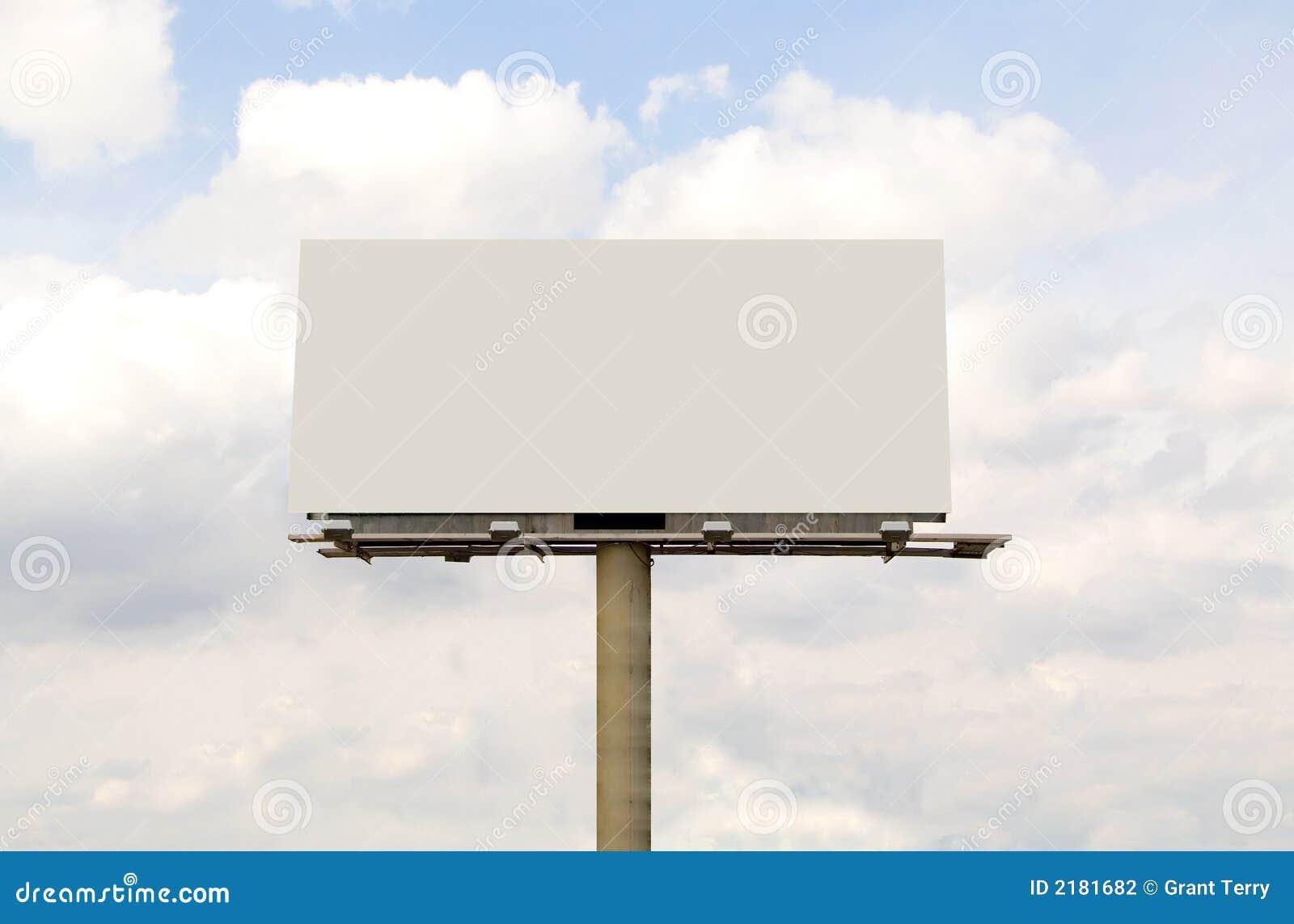 Blank Billboard Stock Photography - Image: 2181682