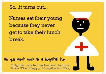 Nurses eat their young ecard humor photo