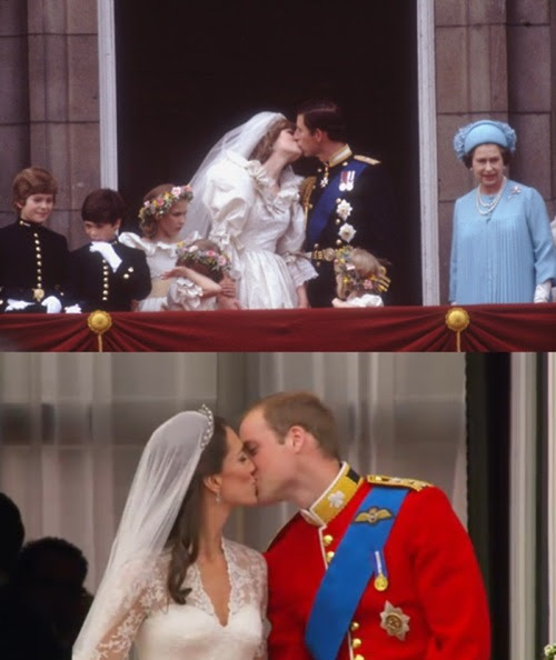 I think Kate and William's kiss has more feeling compared to late Princess Di and Prince Charles. Honestly.