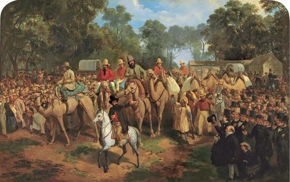 File:Nicholas Chevalier - Memorandum of the Start of the Exploring Expedition, 1860.jpg