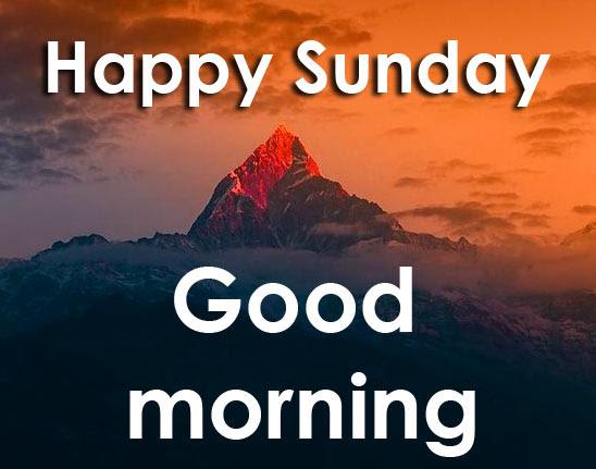 Sunday Good Morning Wishes Photo for Facebook