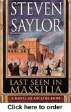 Book: Steven Saylor, Last Seen in Massillia