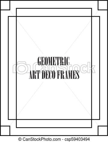 Art Deco Vector Frame At Getdrawingscom Free For Personal Use Art
