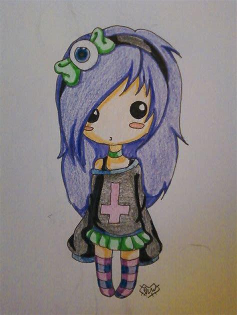 cute chibi pastel goth girl chibis pinterest