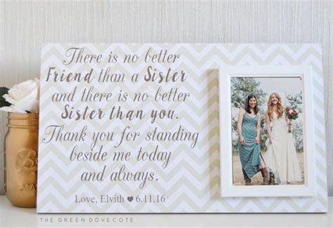 25  best ideas about Sister Wedding Gifts on Pinterest