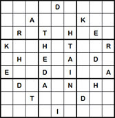 Mystery Godoku Puzzle for April 25, 2011