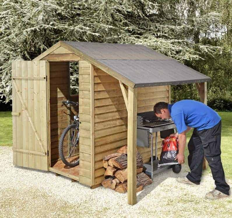 Small Storage Sheds 6 x 4 Shed Plus Pressure Treated Small Storage Sheds With Log Store