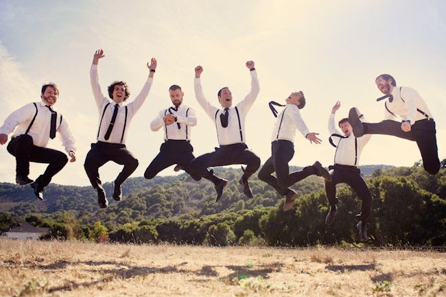 cute picture - i love nontraditional groomsmen attire