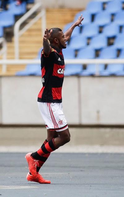 Flamengo x Friburguense - comemoração gol Marcelo Cirino (Foto: Rudy Trindade / Agência Estado)