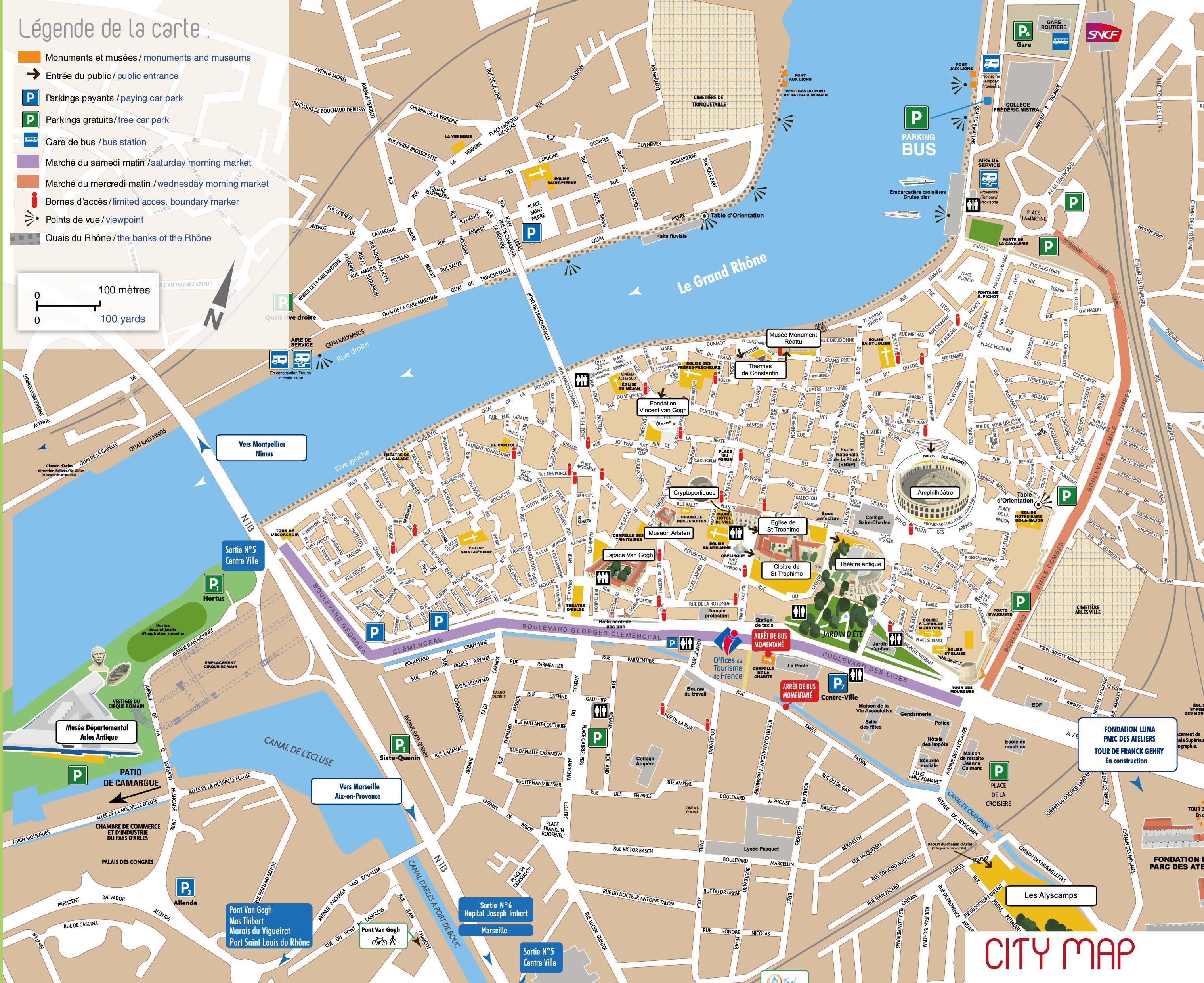 arles city center map