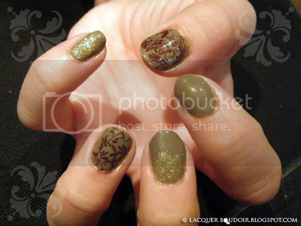 Lacquer Boudoir - Nail Art: Guest Manicure - Angela Demure Elegance