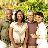 diverse elderly group