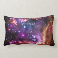 Monogram Starry Wingtip of Small Magellanic Cloud Throw Pillows