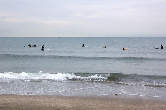 At Kamakura beach