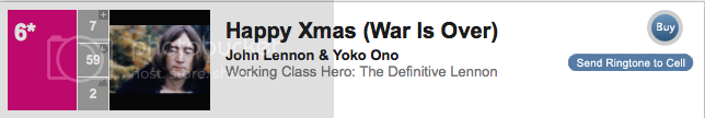 #6 John Lennon Happy Xmas (War Is Over)