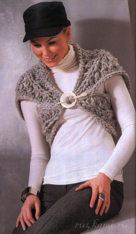 Knitted bolero spokes