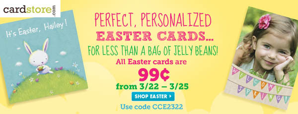 99 cent Easter Cards at Cardstore.com