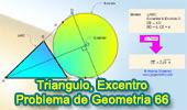 Problema de Geometría 66: Triangulo, Excirculo, Excentro, Media Geométrica.