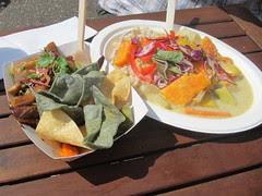 Pig Ear Salad & Thai Green Curry