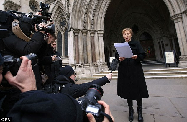 Mrs Litvinenko, speaking on the steps of the High Court today, called for the expulsion of all Russian spies from London following the public inquiry