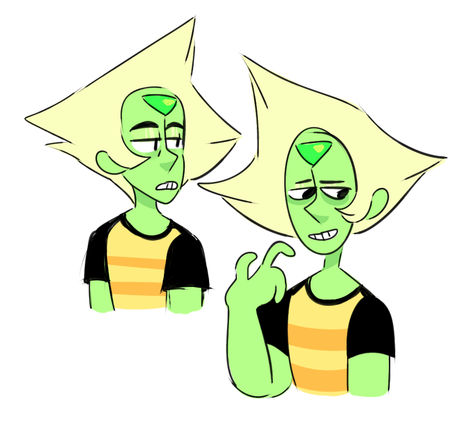 Masc Peridot? IDK look at this oily and tired boi