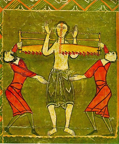 enluminure, martyre de saint Quirice