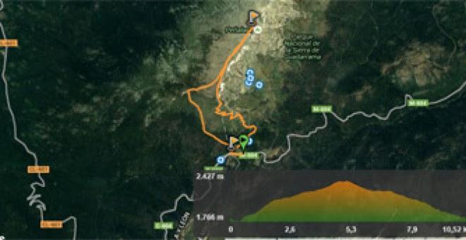 Ruta de subida a Peñalara desde el Puerto de Cotos. WIKILOC