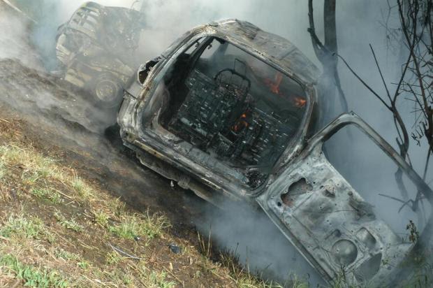 Passageira que sofreu acidente em caminhonete morre em hospital de Estrela Alexandre Carvalho Fernandes,PRF/Divulgação