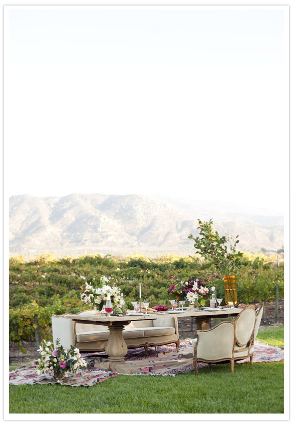vintage outdoor wedding decor