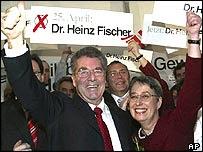 Heinz Fischer og eiginkona hans, Margit